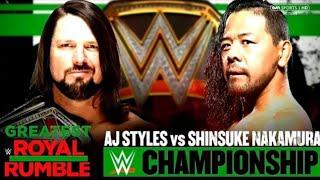 WWE 2K18 Simulación Greatest Royal Rumble 2018: Shinsuke Nakamura vs AJ Styles (WWE CHAMPIONSHIP)