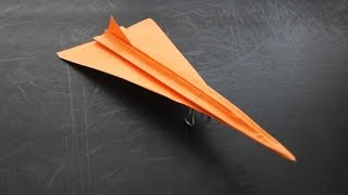 How To Make A Concorde Origami Paper Plane: Instruction