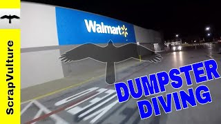 My WALMART Dumpster Diving Route while Traveling Home - Let's See What We Can Find!