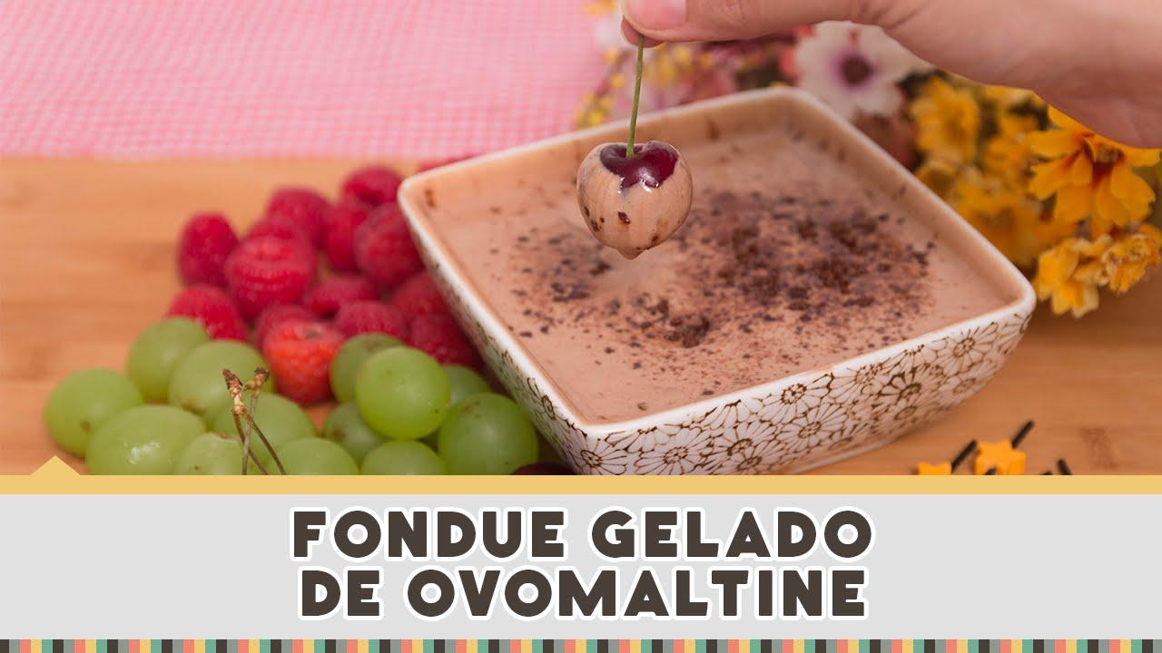Fondue Gelado de Ovomaltine - Receitas de Minuto EXPRESS #136