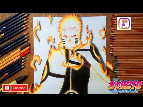 Drawing naruto 3D kurama mode - (Boruto Next Generation)