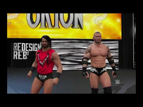 WWE 2K17 Seth Rollins and Orton vs. Mark Henry and Neville