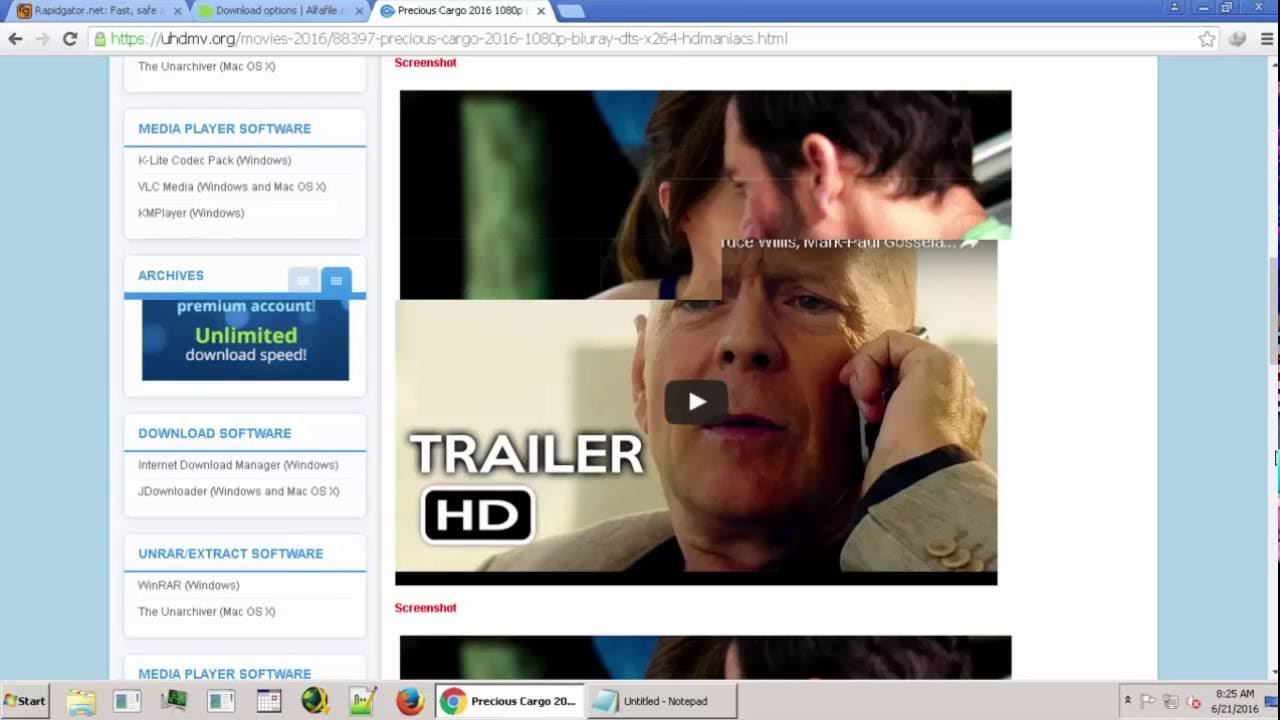 Download Ultra HD Bluray Movies, 4K Movies, HD Movies, Daily