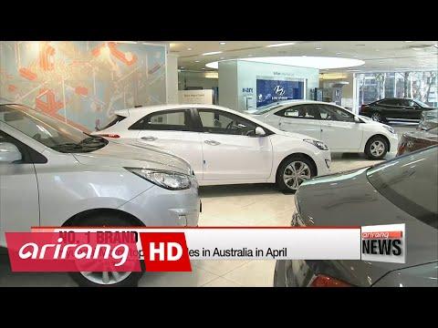 Hyundai Motor tops auto sales in Australia in April