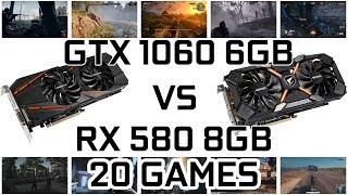 RX 580 VS GTX 1060 6GB || BENCHMARK IN 20 NEW GAMES 1080P/1440p