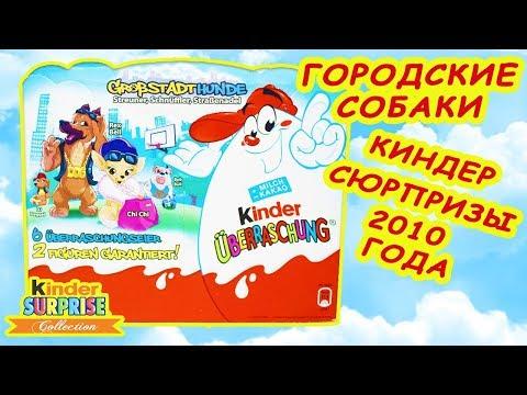 ГОРОДСКИЕ СОБАКИ Немецкий набор Киндер Сюрприз 2010 года Unboxing Kinder Surpriseb eggs Dog Stories