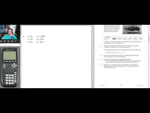 Examentraining VMBO Wiskunde (2016 tijdvak 1 Opgave 4 tot en met 6)
