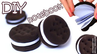 How To Make Oreo Notebook - DIY Chocolate Sandwich Cookies Notebook Tutorial(Everyone likes Oreo and other Chocolate Sandwich Cookies! In this video tutorial I show how to make small DIY notebooks that look like this amazing dessert., 2015-09-26T09:06:57.000Z)
