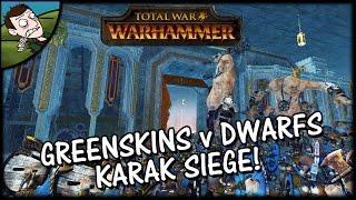 MASSIVE KARAK SIEGE! - Total War WARHAMMER Siege Gameplay!