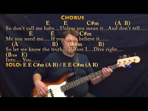 Dive (Ed Sheeran) Bass Guitar Cover Lesson in E with Chords/Lyrics