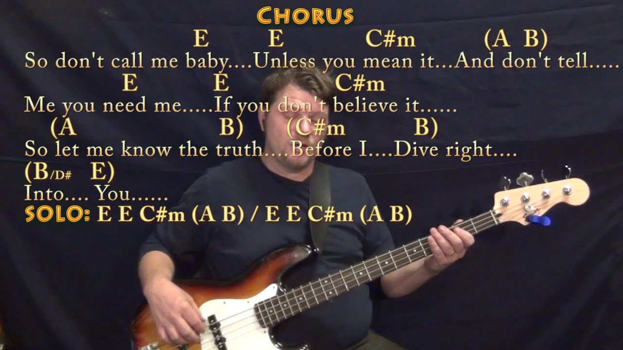 Dive ed sheeran bass guitar cover lesson in e with - Dive lyrics ed sheeran ...