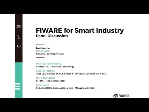 FIWARE SUMMIT'16 - Smart Industry panel