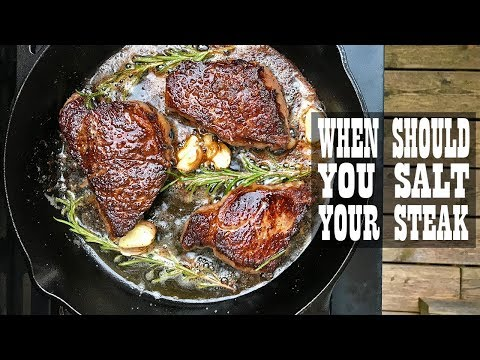 Steak Experiments - When Should You Salt Your Steak (S1.E4)