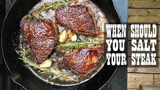 Steak Experiments - When Should You Salt Your Steak (S1.E4)