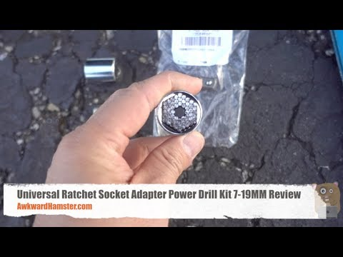 Universal Ratchet Socket Adapter Power Drill Kit 7-19MM Review – GearBest.com