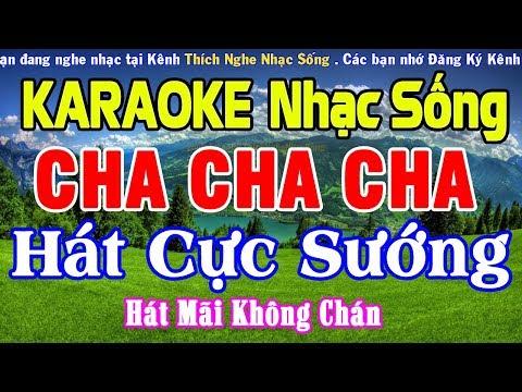 KARAOKE Liên Khúc Nhạc Sống Cha Cha Cha CỰC HAY - Hòa Tấu Cha Cha Cha Hay Nhất #6
