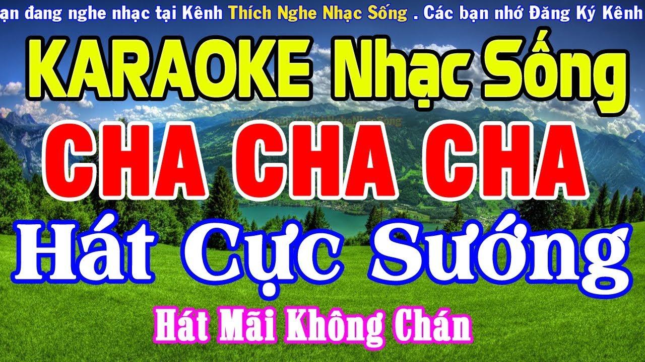 KARAOKE Liên Khúc Nhạc Sống Cha Cha Cha CỰC HAY – Hòa Tấu Cha Cha Cha Hay Nhất #6