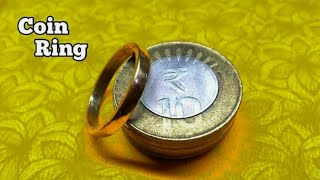 how to make a coin ring | coin ring | DIY COIN RING