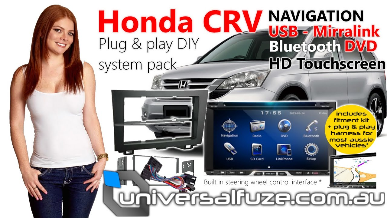 How to change Honda CRV Stereo, upgrade to HD touchscreen ...