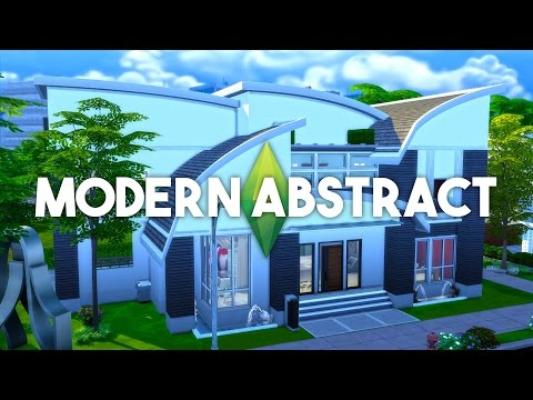 The Sims 4 House Building - Modern Abstract - Speed Build