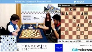 Maxime VL vs Nakamura Final Armageddon Blitz Chess - Gibraltar Masters Chess 2016
