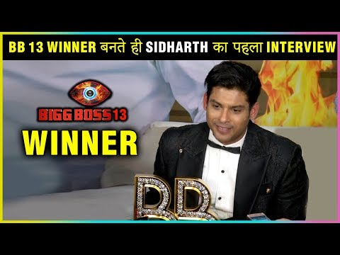 Sidharth Shukla FIRST INTERVIEW After WINNING Bigg Boss 13   GRAND FINALE
