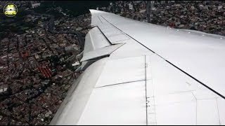 Boeing 747-8 STORM Approach into Mexico City - can you feel THAT touchdown? [AirClips]