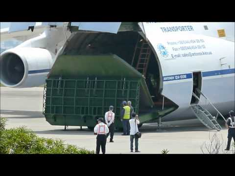 Antonov Design Bureau 124-100M Cargo Door Platform in operation