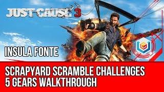 Just Cause 3 - All Scrapyard Scramble Challenges - 5 Gears Walkthrough - Insula Fonte