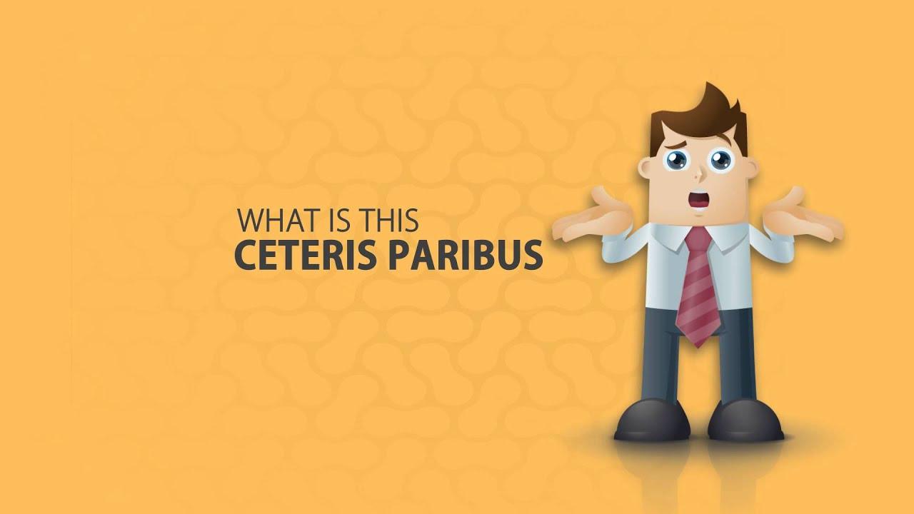 Hasil gambar untuk CETERIS PARIBUS