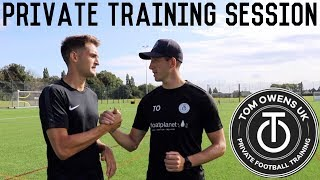 Advanced SAQ, Ball Receiving & Finishing Drills | Full Private Pro Football Training Session