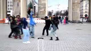 ICC World T20 Bangladesh 2014 - Flash Mob With Caption Subtitle , Berlin, Germany