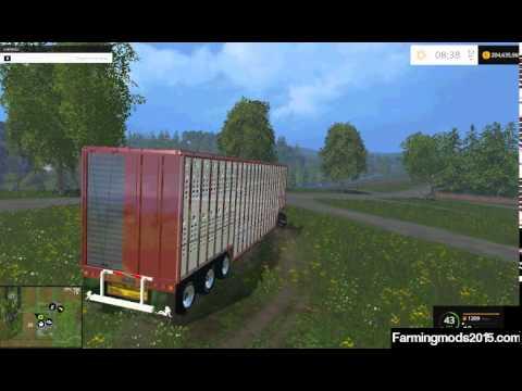 US LIVESTOCK Trailer V 1.0 Farming Simulator 15