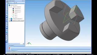 Компас-3D Урок 28. Построение 3D-модели полумуфты.avi