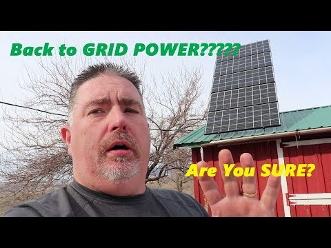 Pure Living For Life going on Grid! Response and truth about solar power.