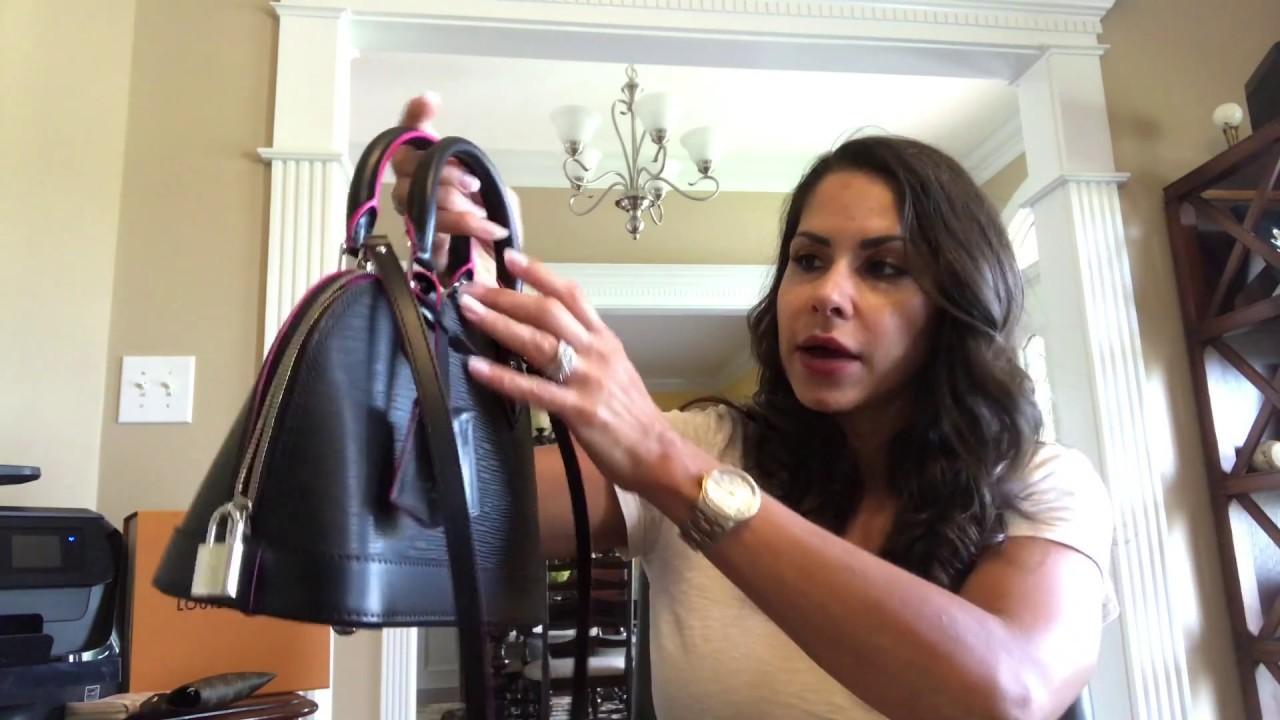 d8f00f7c47ac Louis Vuitton Epi (Noir) Alma bb Review - YouTube