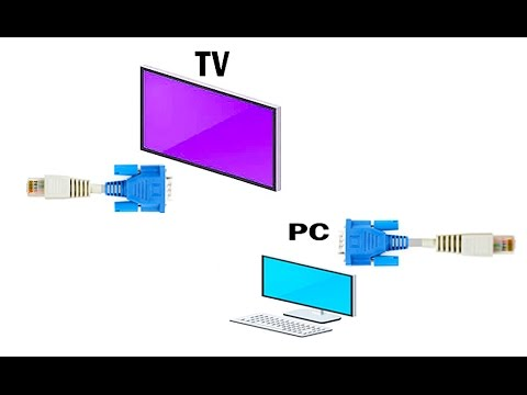 VGA video signal over Ethernet cable up to 100feet (30meters) - YouTube