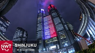 Tokyo Shinjuku In The Rain 4K Binaural ASMR