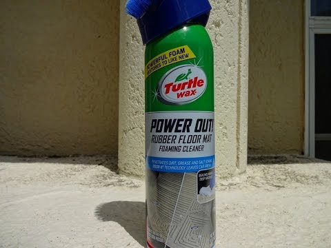 Turtle Wax Power Out Rubber Floor Mat Foaming Cleaner Review and Test Result.
