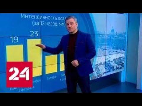 """""""Погода 24"""": балканский циклон испытает на прочность Санкт-Петербург - Россия 24"""