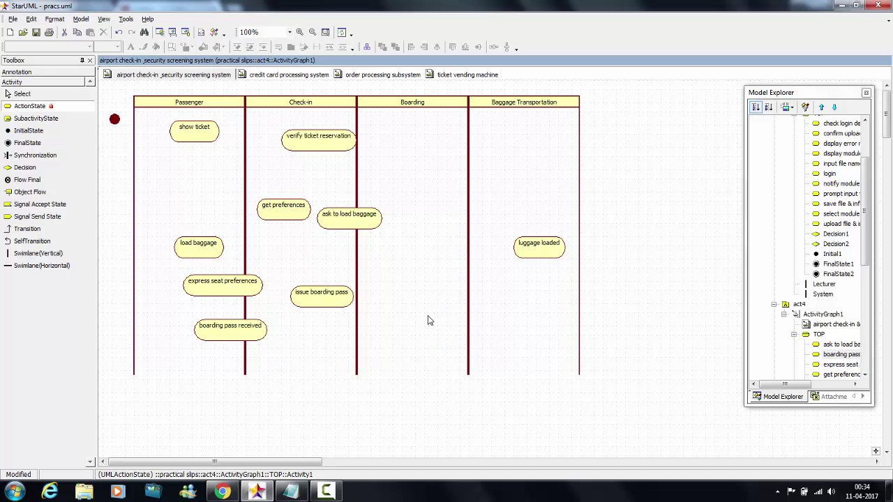 Tutorial 14 airport check in security screening system tutorial 14 airport check in security screening system activity diagram ccuart Choice Image