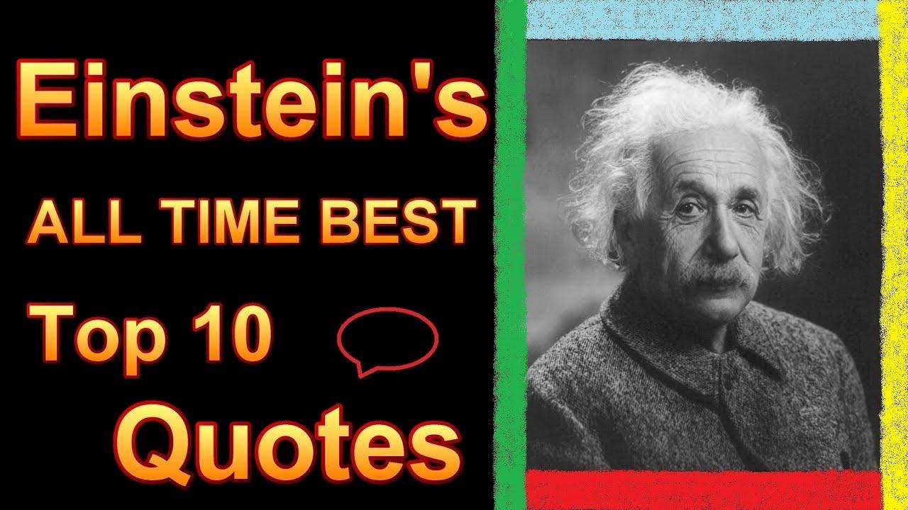 Top 10 Albert Einstein Quotes Famous All Time Best Ten E