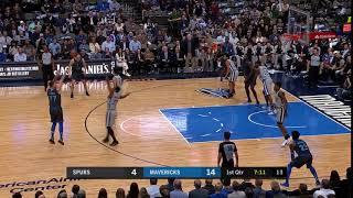 1st Quarter, One Box Video: Dallas Mavericks vs. San Antonio Spurs