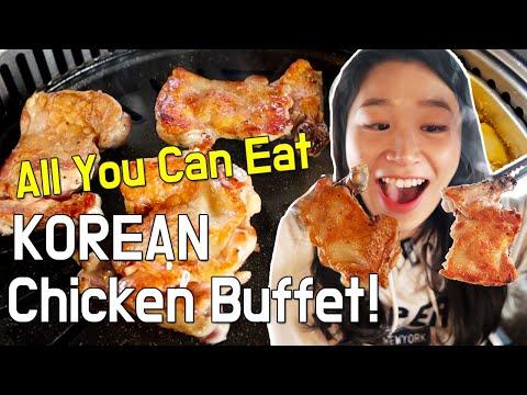 All You Can Eat Korean Chicken Buffet In Seoul South Korea Ft. Korean Fried Chicken Dakgalbi