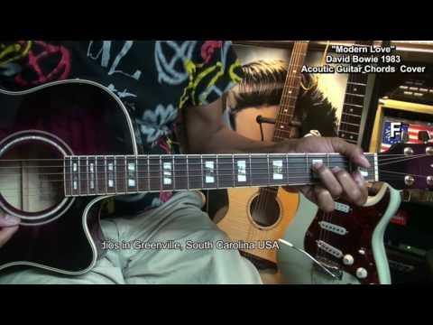 David Bowie MODERN LOVE Guitar Chords Cover Lesson Link EricBlackmonMusicHD YouTube