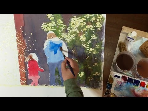 How to Use Masking Fluid to Preserve White Spaces in Watercolor