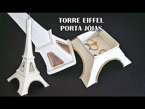 Presente Criativo Torre Eiffel Porta Joias Como Fazer