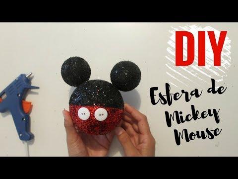 Como hacer Esferas  de Navidad de Mickey Mouse