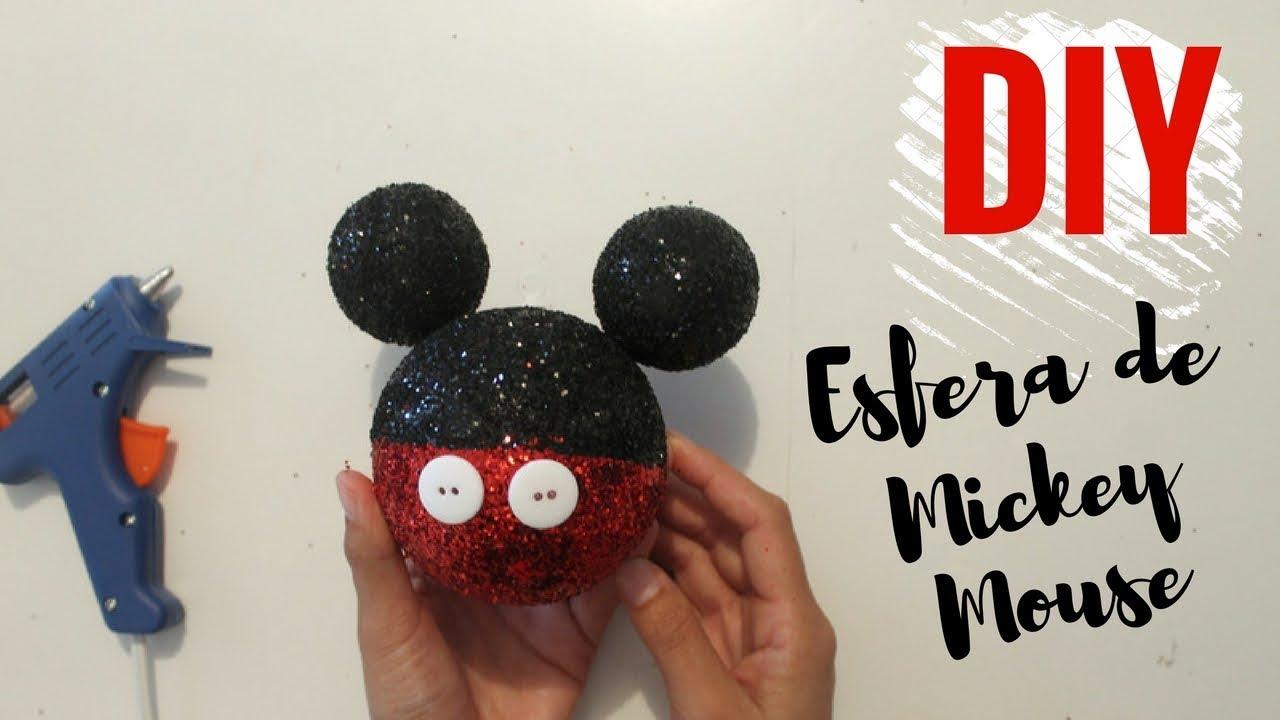 Como hacer esferas de navidad de mickey mouse youtube for Adornos navidenos mickey mouse