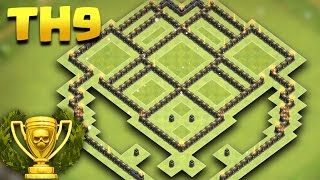 Town Hall 9 (TH9) Trophy Pushing Base Champion League 2017 | Anti Giant/Valkyrie/Pekka